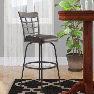 Perreira Swivel Metal Frame Bar Stool