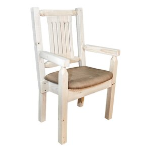 Abella Rustic Arm Chair by Loon Peak