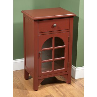 Rosa 1 Door End Table by Alcott Hill