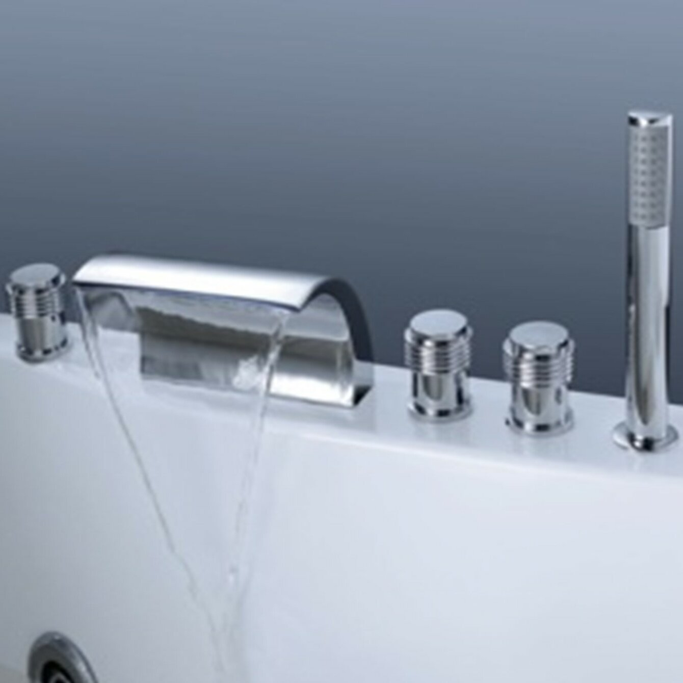 Magnificent Roman Tub Faucet With Hand Shower Crest - Bathroom and ...