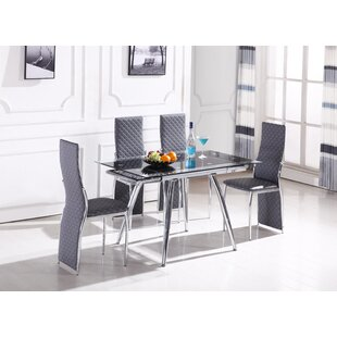 Arness 5 Piece Extendable Dining Set by O..