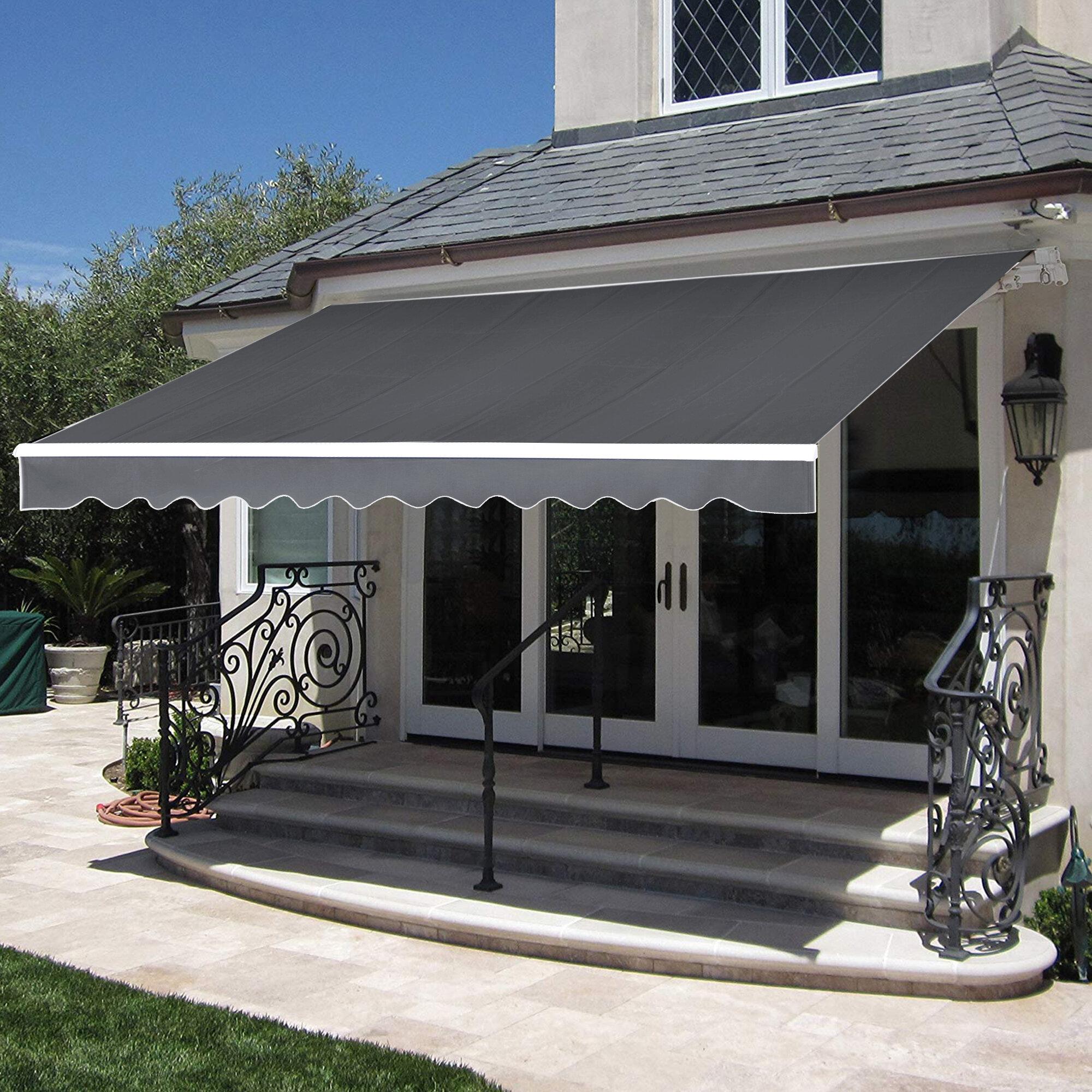 Arlmont Co Sparta 12 Ft W X 10 Ft D Fabric Retractable Standard Door Awning Reviews Wayfair