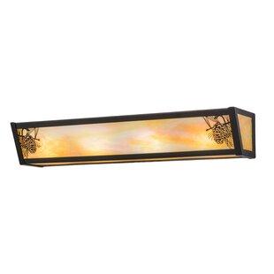Meyda Tiffany Greenbriar Oak Winter Pine 4-Light Bath Bar