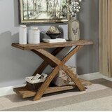 Wood X Cross Leg Console Tables You Ll Love In 2021 Wayfair