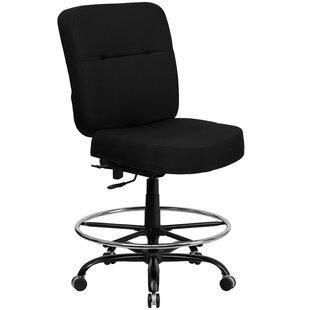 Symple Stuff Laduke Leather Drafting Chair
