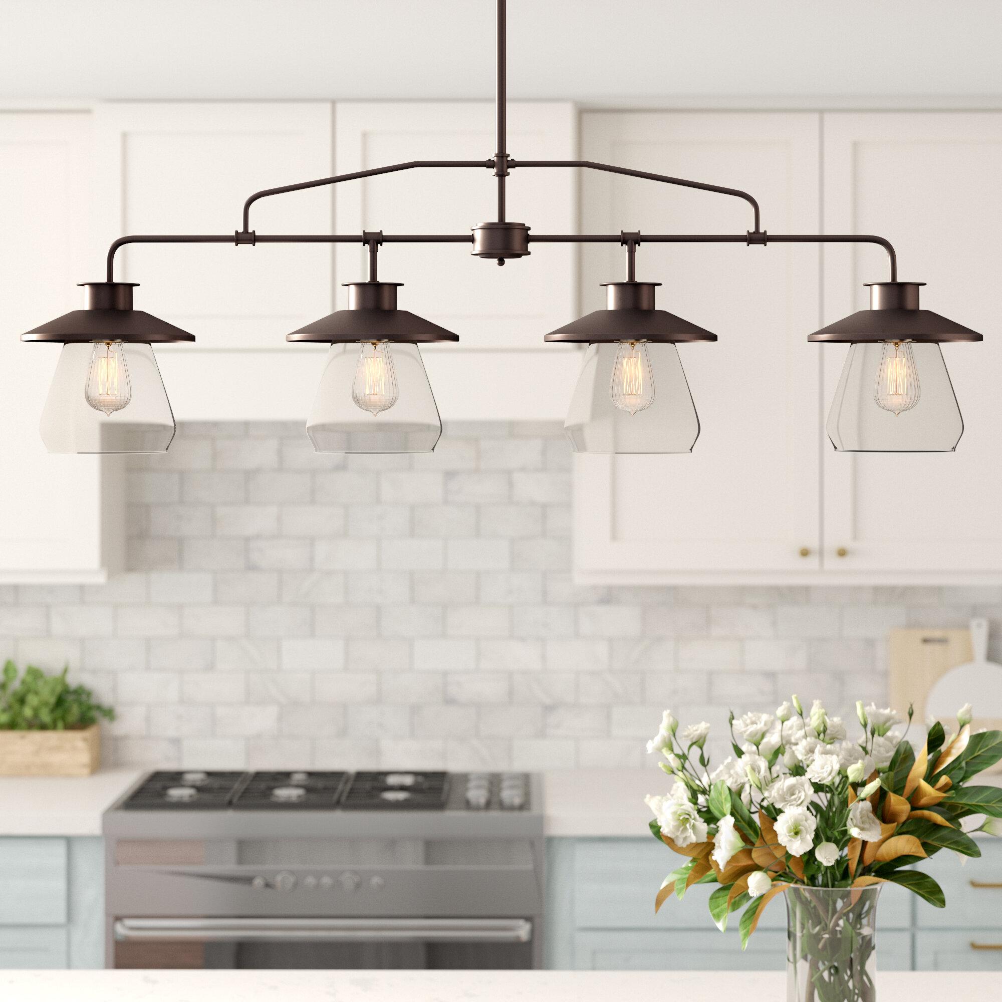 Joss Main Conte 4 Light Kitchen Island Linear Pendant Reviews Wayfair