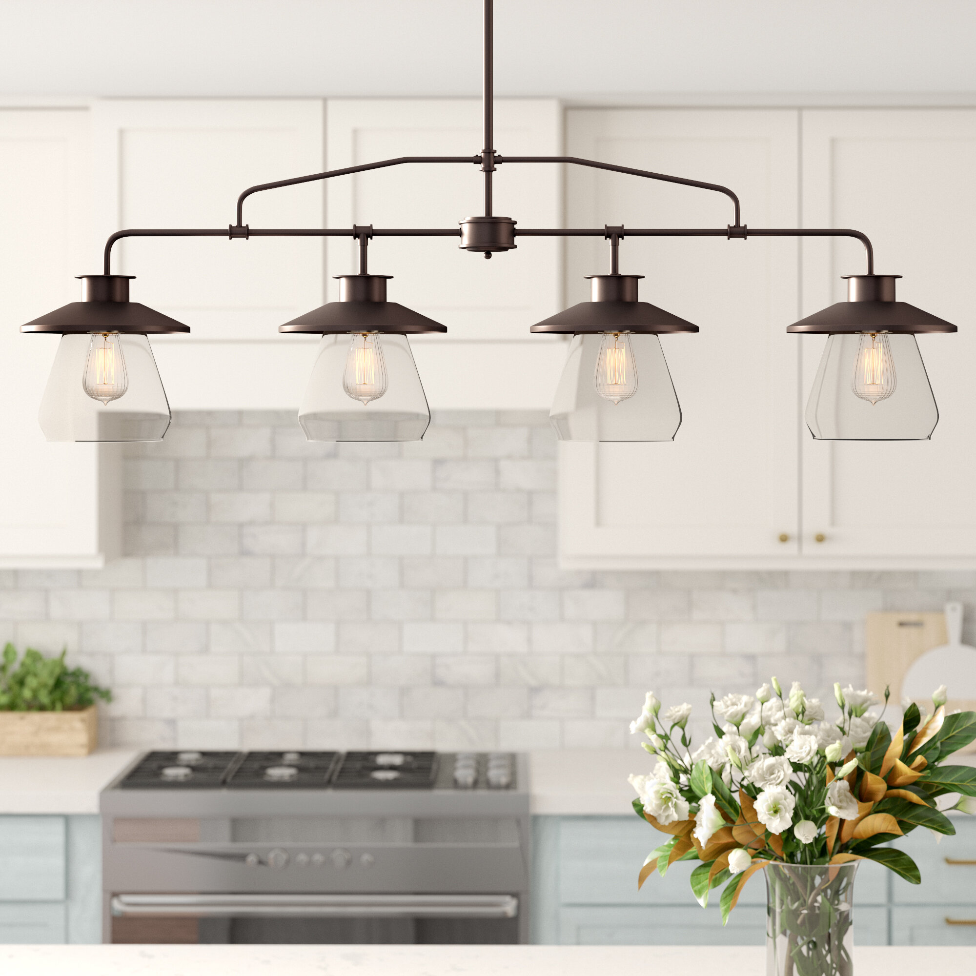 Image of: Ledbury 4 Light Kitchen Island Pendant Reviews Joss Main