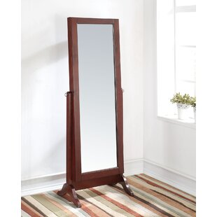 A&J Homes Studio Remiro Free standing Jewelry Armoire with Mirror