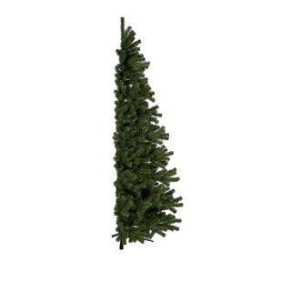 Kunstlicher weihnachtsbaum in halbform