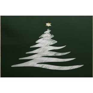 Christmass Tree Green Indoor/Outdoor Area Rug