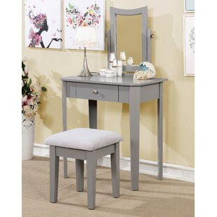 Red Barrel Studio Hanna Vanity Set in White
