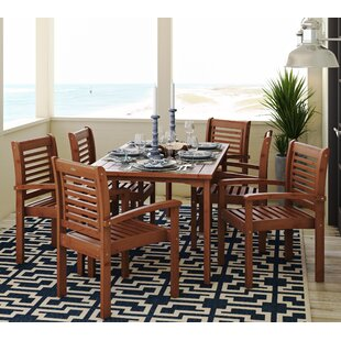 Flinn 7 Piece Dining Set by Beachcrest Home 2019 Sale