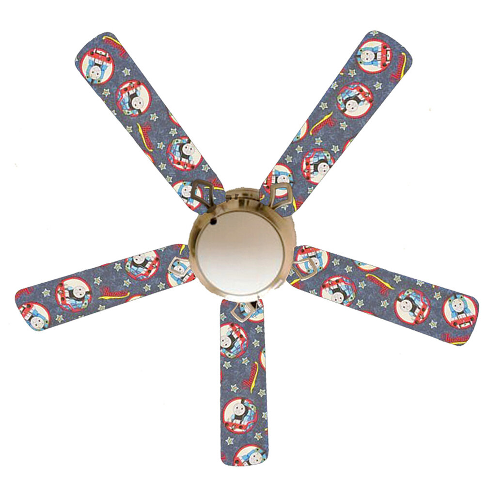 888 Cool Fans 52 5 Blade Flush Mount Ceiling Fan With Pull Chain And Light Kit Included Wayfair