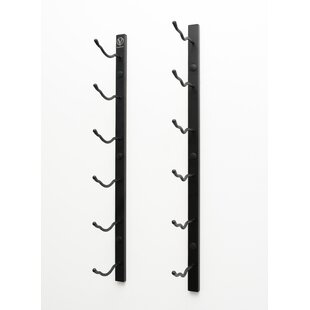 6 Bottle Metal Wall Mounted Wine Rack by ..