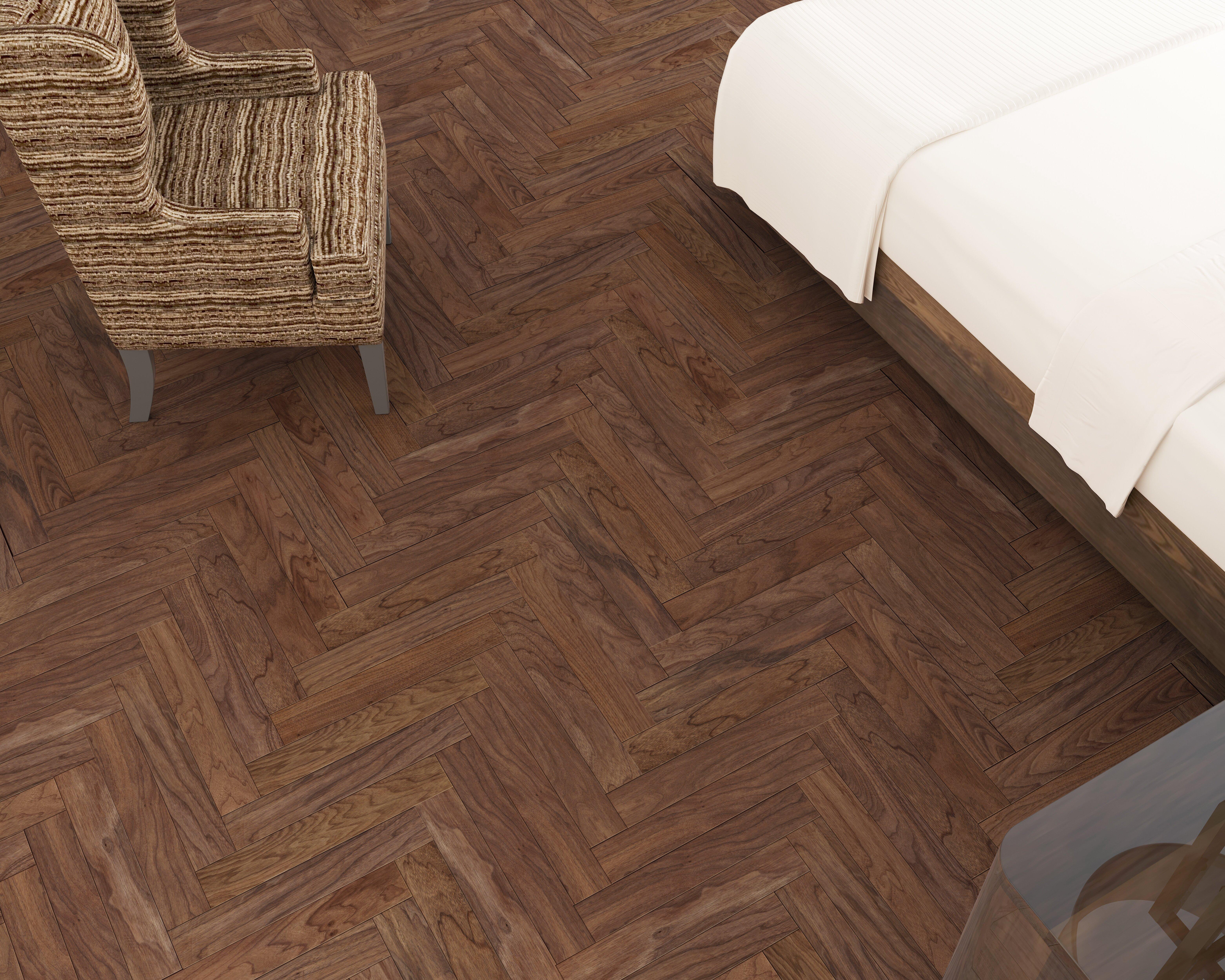 """Casablanca Walnut 5/5"""" Thick x 5-5/5"""" Wide Engineered Parquet Hardwood  Flooring"""
