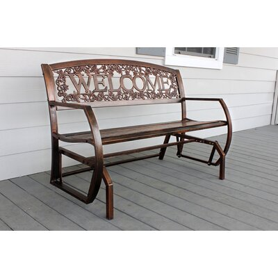 Welcome Double Glider Bench Leigh Country