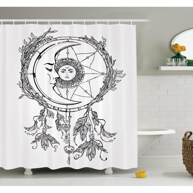 Cliff Dreamcatcher Moon Shower Curtain Set