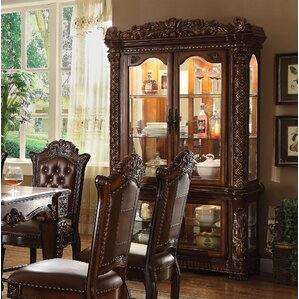 Welles Lighted Curio Cabinet by Astoria Grand