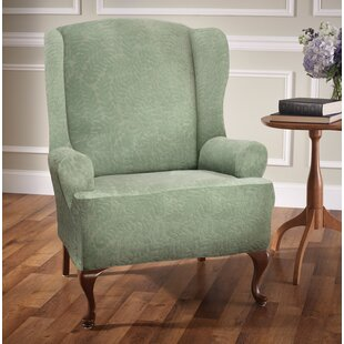 Stretch T-Cushion Wingback Slipcover By Red Barrel Studio