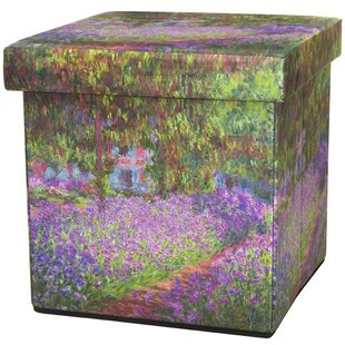 Monet Irises Storage Ottoman by Oriental Furniture