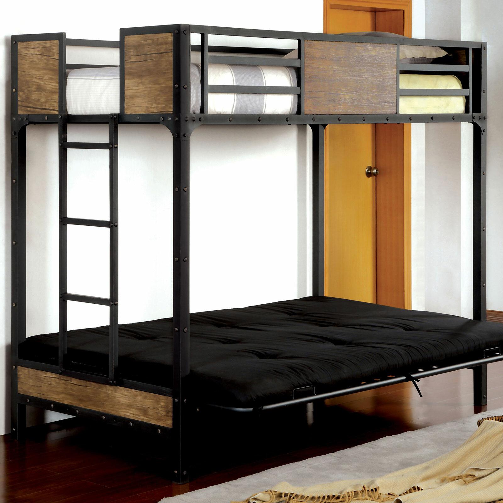 Harriet Bee Espanola Twin Solid Wood Futon Bunk Bed By Harriet Bee Wayfair