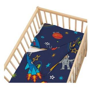 Space Boy 2 Piece Cot Bedding Set by HoneyBee Nursery