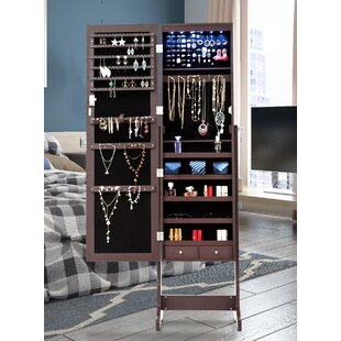 Red Barrel Studio Monte Free Standing Jewelry Armoire with Mirror