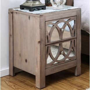 Joy 2 Drawer Nightstand by Bungalow Rose