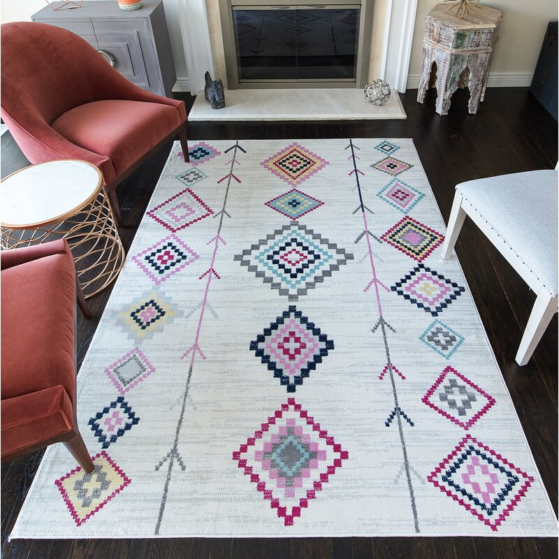 CosmoLiving by Cosmopolitan Boho Ivory Area Rug & Reviews | Wayfair