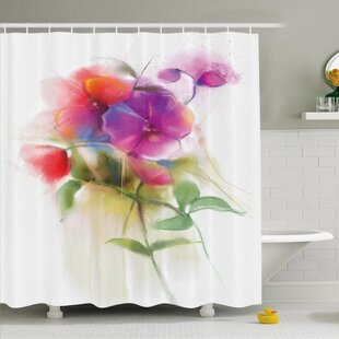 Watercolor Flower Home Blooming Orchid Spring Bouquet Romance Natural Beauty Fragrance Shower Curtain Set