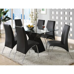 7 piece black dining room set. Faust 7 Piece Dining Set Modern Room Sets  AllModern