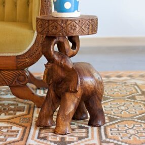 Great choice Ivy Elephant Chang End Table By World Menagerie
