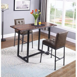 Brooke 3 Piece Pub Table Set 17 Stories