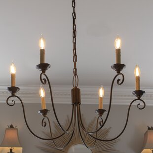Fleur De Lis Living Strange 6-Light Candle Style Chandelier