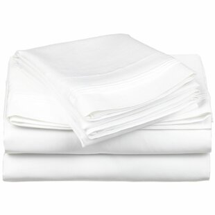 Herzig 650 Thread Count Solid 100% Egyptian-Quality Cotton Sheet Set