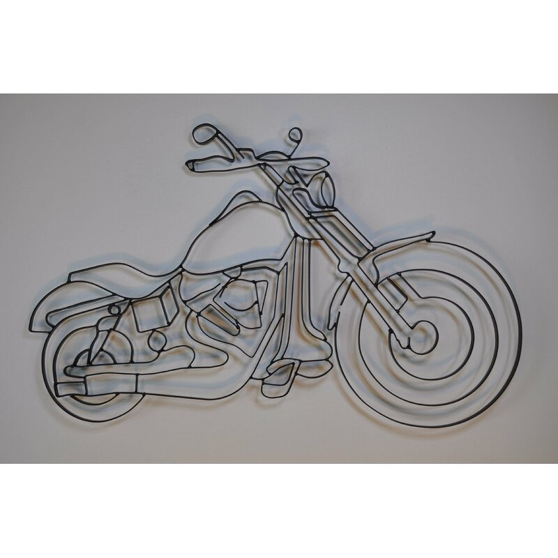 World Unique Imports Motorcycle Metal Wall Décor & Reviews | Wayfair
