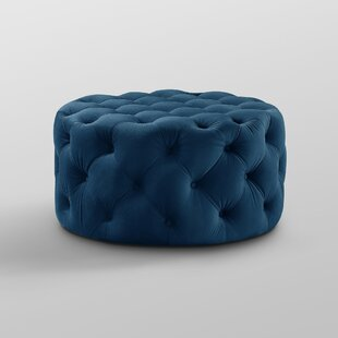 Mudge Round Tufted Cocktail Ottoman by House of Hampton