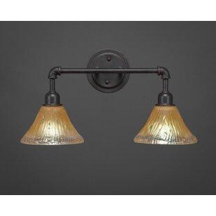 Williston Forge Kash 2-Light Crystal Vanity Light