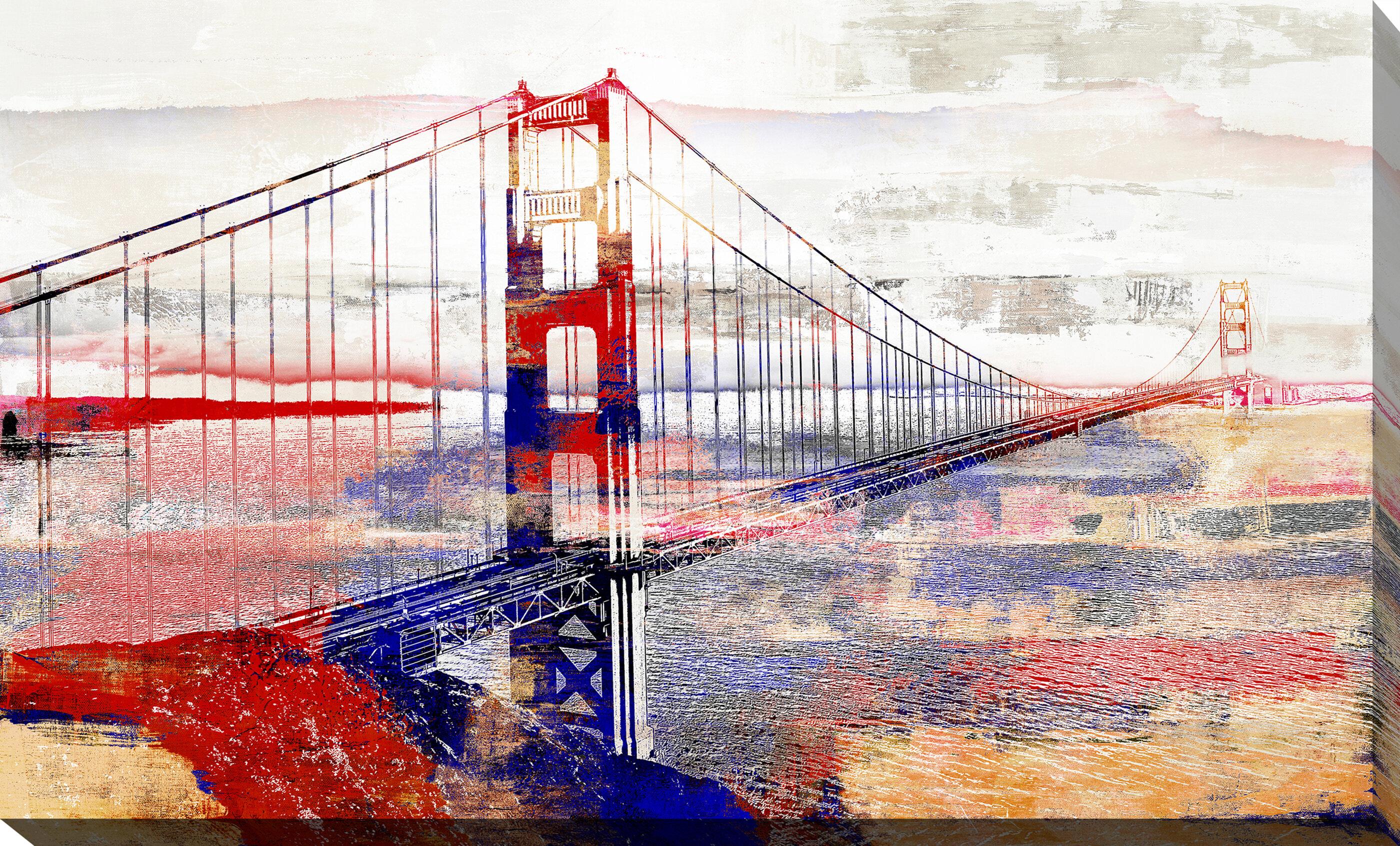Latitude Run Golden Gate Bridge Iii Graphic Art Print On