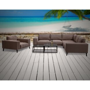 Birchfield 5 Piece Sunbrella Sectional Seating Group with Sunbrella Cushions