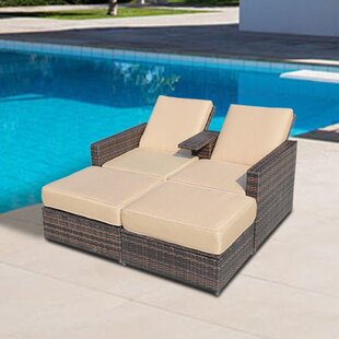 Marti 4 Piece Reclining Chaise Lounge With Cushion