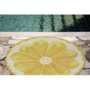 Ismay Hand-Tufted Yellow Indoor/Outdoor Area Rug