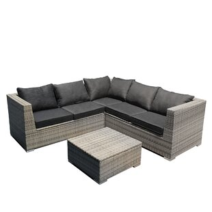 Ferrara 4 Piece Sofa Set with Cushions