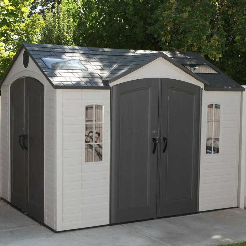 9 ft 8 in w x 7 ft 8 in d metal - Garden Sheds 7 X 9