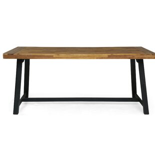 Union Rustic Liberatore Wooden Dining Table