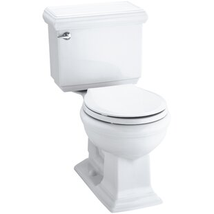 Kohler Memoirs Impressions Classic Comfort Height Two-Piece Round-Front 1.28 GPF Toilet with Aquapiston Flush Technology and Left-Hand Trip Lever