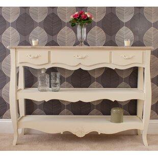 Albane 3 Drawer 2 Shelf Console Table By Fleur De Lis Living