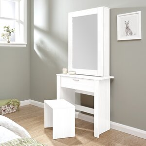 High Quality Gumm Sliding Door Dressing Table Set With Mirror Idea