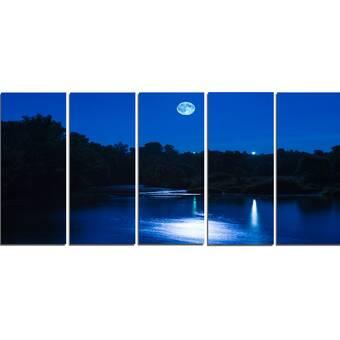 Designart Rock Blue River Panorama Graphic Art Print Multi Piece Image On Wrapped Canvas Wayfair