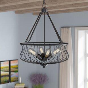 Laurel Foundry Modern Farmhouse Sage 4-Light Bowl Pendant